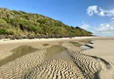 Free A Beach And Sand Ripples At Low Tide On The Gold Coast In Queensland, Australia Royalty Free Stock Images - 183491469