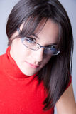 A Beautiful Business Woman With Glasses Stock Photo