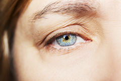 Free A Beautiful Insightful Look Woman`s Eye. Close Up Shot Stock Images - 98944964