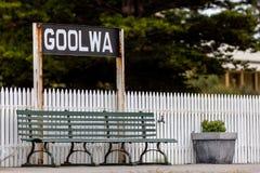 Free A Bench Seat At Goolwa Train Station On The Fleurieu Peninsula Goolwa South Australia On 3rd April 2019 Royalty Free Stock Photos - 143799988
