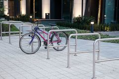 A Bicycle On The Bicycle Parking Stock Images