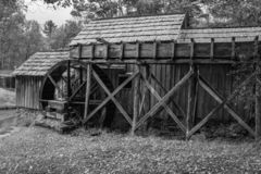 A Black And White Image Of Mabry Mill Royalty Free Stock Photography