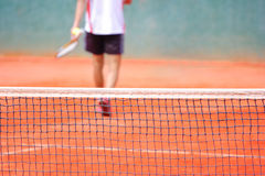 A Blurred Tennis Player Royalty Free Stock Photo