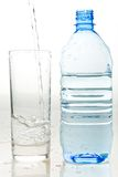 A Bottle Of Fresh Mineral Water And A Glass Royalty Free Stock Photos
