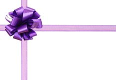 A Bow Gift Background Stock Photo