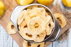 A Bowl Filled With Dried Apples Royalty Free Stock Photos