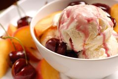 A Bowl Of Ice Cream Stock Images