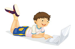 Free A Boy And Laptop Stock Photo - 26112440