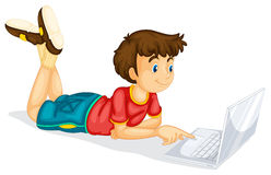 Free A Boy And Laptop Stock Photo - 31479400