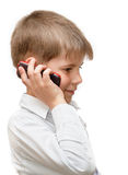 A Boy With A Cell Phone Royalty Free Stock Photo