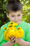 A Boy With A Dandelions Royalty Free Stock Photography