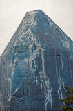 A Building Under Wraps Stock Images