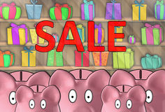 Free A Bunch Of Piggy Banks Afraid Royalty Free Stock Photography - 48105547