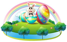 A Bunny Inside The Easter Egg Royalty Free Stock Photo