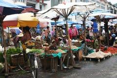 A Burmese Local Market Royalty Free Stock Photography