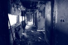 Free A Burned Scene Inside A Building. Stock Photo - 106749350