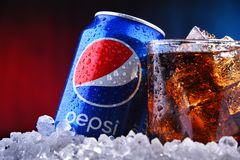 Free A Can And A Glass Of Pepsi Royalty Free Stock Images - 156479329