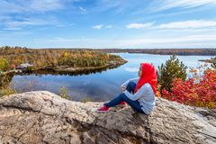 Free A Canadian Muslim Enjoying View From Top Of The Hill Royalty Free Stock Photography - 103182657