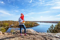 Free A Canadian Muslim Enjoying View From Top Of The Hill Stock Photos - 103182823