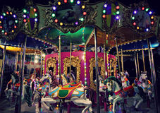 Free A Carousel At Night Stock Image - 76820861