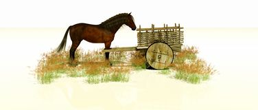 Free A Cart Before The Horse Stock Photos - 137956193