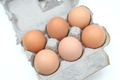 A Carton Of Eggs Stock Images