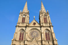 A Catholic Church In Gothic Architecture Style Royalty Free Stock Photo