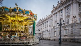 Free A Christmas Carousel At The Royal Palace In Madrid, Spain Stock Photos - 137326473