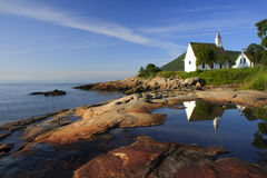 A Church In Charlevoix Stock Photos