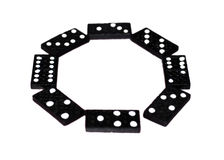 A Circle Of Dominoes Royalty Free Stock Images