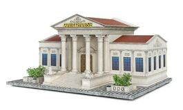 Free A Classical Building Of Courthouse On A Piece Of Ground Stock Photos - 202467163