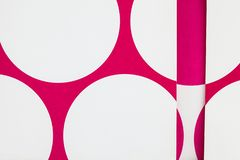 A Close Up Of Paper With Cut Printed Circles. Royalty Free Stock Photography