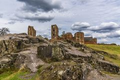 A Close Up View Of A Rocky Outcrop In Front Of The Ruins Of Bradgate House, Leicestershire Royalty Free Stock Photo