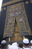 A Close Up View Of Kaaba Door Stock Photos
