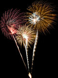 A Collage Of Fireworks Royalty Free Stock Photography