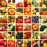 A Collage Of Nutrition Images With Fresh Fruits Stock Photography