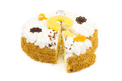 Free A Colorful Birthdaycake With Cream Stock Images - 11108524