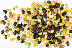 A Colorful Variety Of Beans, Peas And Lentils Stock Photography