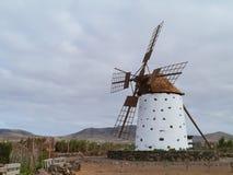 A Corn Wind Mill On Fuerteventura Stock Photo