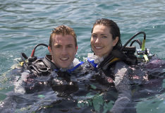 A Couple Scuba Diving Royalty Free Stock Images