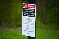 Free A COVID-19 Closed Playground And Equipment In Scarborough, Ontario. Stock Photography - 185353532