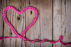 A Crochet Chain In The Shape Of A Heart Stock Images
