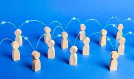 Free A Crowd Of People Interconnected By Communication Lines. Cooperation And Collaboration, Spread News And Gossip. Teamwork. Unity Stock Image - 163180341