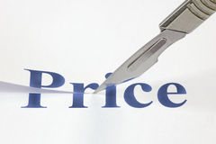 A Cut In Price Royalty Free Stock Photos
