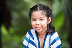 Free A Cute Asian Girl Portrait With Sweet Smile Face Stock Image - 122295231