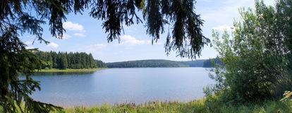 A Dam Lake In The Erzgebirge Royalty Free Stock Photography