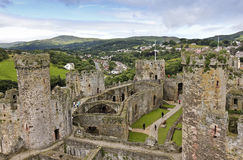 A Daytime Conwy And Conwy Castle Shot Royalty Free Stock Image