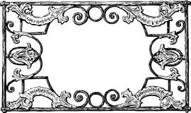 A Decorative Frame In Baroque Style Royalty Free Stock Photos