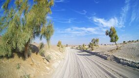 Free A Desert Road Royalty Free Stock Image - 198605196