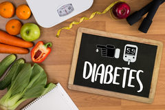 A Diabetes Test, Health Medical Concept , Obesity , Blood Test Royalty Free Stock Image